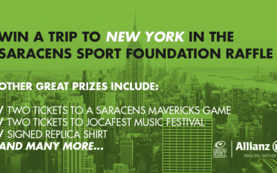 WIN A TRIP TO NEW YORK IN THE SARACENS SPORT FOUNDATION RAFFLE!