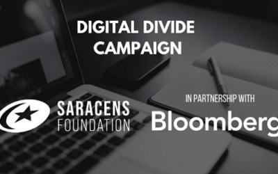 Bloomberg Partners with the Saracens Foundation on the Digital Divide Campaign!